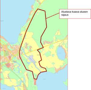 Kartta kaava-alueesta