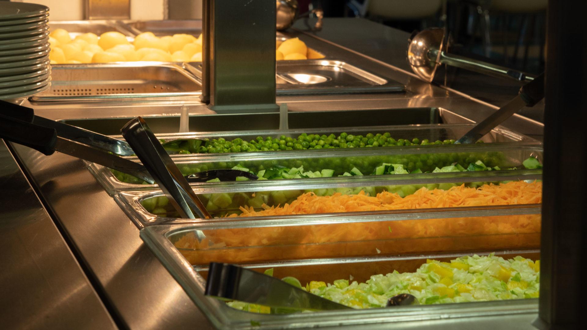 Salaattibuffet.
