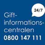 Giftinformationscentralen 0800 147 111
