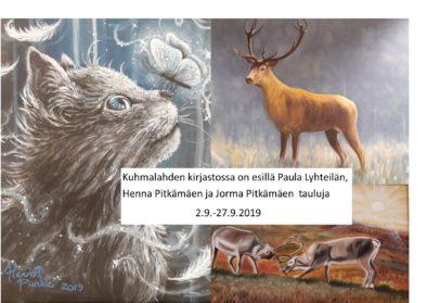 Näyttely Kuhmalahden kirjastossa