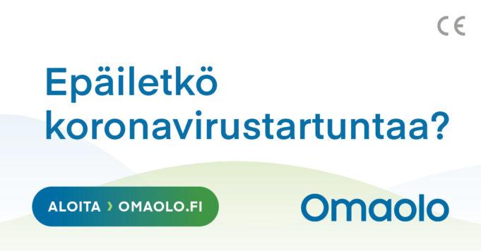 OmaOlo-palvelun tunnuskuva: Epäiletkö koronavirustartuntaa?